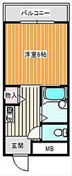 インペリアル5号館[4階]の間取り