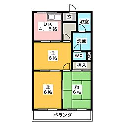 メゾンエクセル2[4階]の間取り