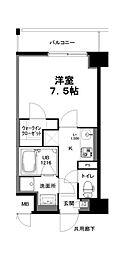 名古屋市営名城線 上前津駅 徒歩8分の賃貸マンション 5階1Kの間取り
