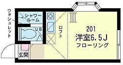 神奈川県横浜市保土ケ谷区宮田町1丁目の賃貸アパートの間取り