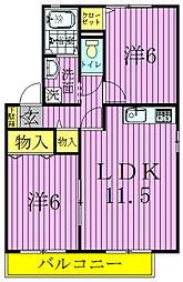 グリーンウェーブ II[2階]の間取り