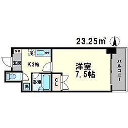KM江坂[4階]の間取り