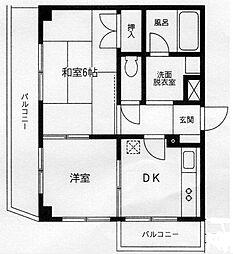 神奈川県横浜市神奈川区神大寺4丁目の賃貸マンションの間取り