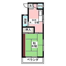 ロゼ II[2階]の間取り