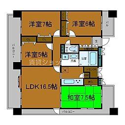 Osaka Metro谷町線 天満橋駅 徒歩5分の賃貸マンション 8階4LDKの間取り