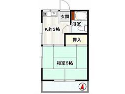 田村荘[1階]の間取り