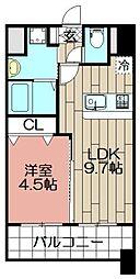 ランドマーク松島[803号室]の間取り