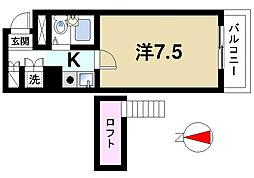 シティパレス生駒谷田町P-6[3階]の間取り