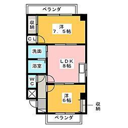 エスパス酒井[2階]の間取り