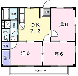 ドミール桃山II[2階]の間取り