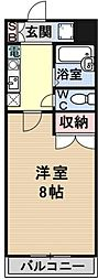 若草フェニックスマンション[105号室号室]の間取り