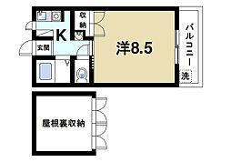 プチ聖和[1階]の間取り