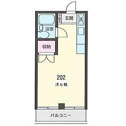 三沢ビル厚木ハイツ[202号室]の間取り