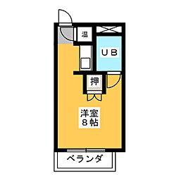 植田パークハイツ[4階]の間取り