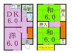 [タウンハウス] 千葉県松戸市新松戸7丁目 の賃貸【/】の間取り