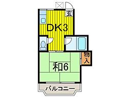 大泉コーポ[2階]の間取り