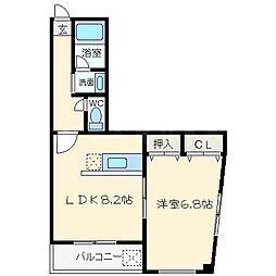 ルート中之島[8階]の間取り