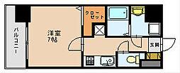 福岡県福岡市博多区美野島1丁目の賃貸マンションの間取り