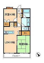 ヒルサイドコート松戸[4階]の間取り