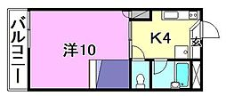 FELCA[107 号室号室]の間取り