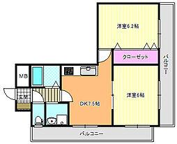 セレネ37[6階]の間取り
