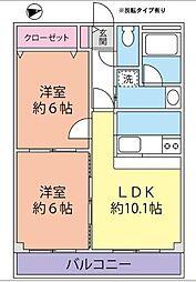 長谷川メディカルプラザ富岡[311号室]の間取り