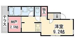 ONLYONE宝塚山本II[103号室]の間取り