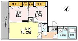 SKYSHORE(スカイショア)[4階]の間取り