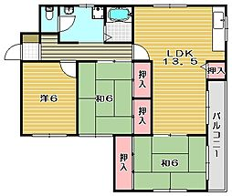 リバーサイドコーポ[3階]の間取り