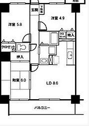 ウィンズステージ[8階]の間取り