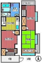 [一戸建] 埼玉県さいたま市浦和区仲町1丁目 の賃貸【埼玉県 / さいたま市浦和区】の間取り