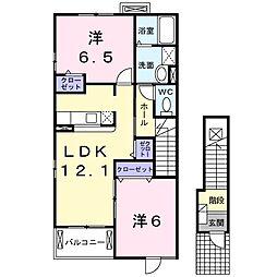 マーベラス ガーデン B[2階]の間取り