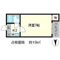 シャローム[4階]の間取り
