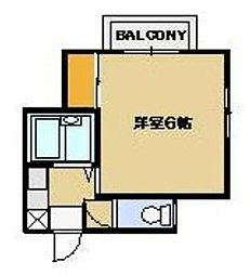 神奈川県川崎市麻生区上麻生3丁目の賃貸アパートの間取り