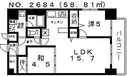 KM山坂[201号室号室]の間取り