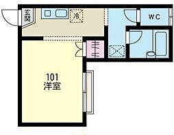 神奈川県相模原市南区北里2丁目の賃貸アパートの間取り