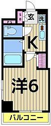 レーヴ・アデル・千住新橋[8階]の間取り