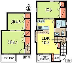 [テラスハウス] 東京都杉並区和田3丁目 の賃貸【東京都 / 杉並区】の間取り