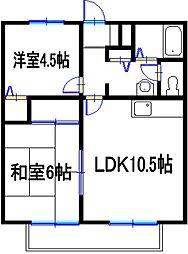 アムールヤマナ[2階]の間取り