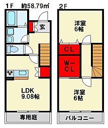 ラ・ボヌール小倉南[2階]の間取り