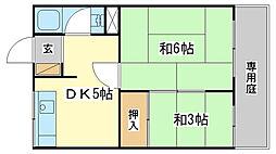 松本マンション[cent号室]の間取り