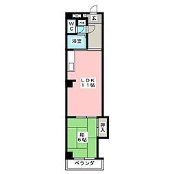 シャトレ鶴田[2階]の間取り