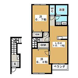 LE MIRAGE[2階]の間取り