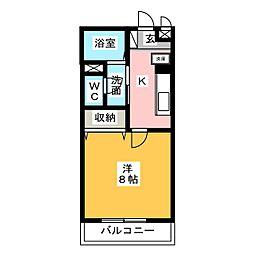 愛知県一宮市多加木3丁目の賃貸アパートの間取り