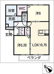 セジュール・サイトA棟[3階]の間取り