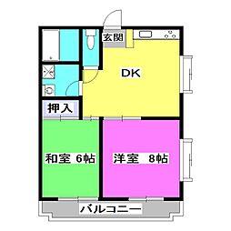 成安中央マンション[1階]の間取り