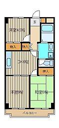 セントラルパーク・アサカ[3階]の間取り