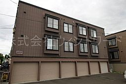北海道札幌市白石区南郷通3丁目北の賃貸アパートの外観