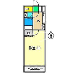 シルクハウス[4階]の間取り