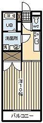 ハイツビフラン[105号室]の間取り